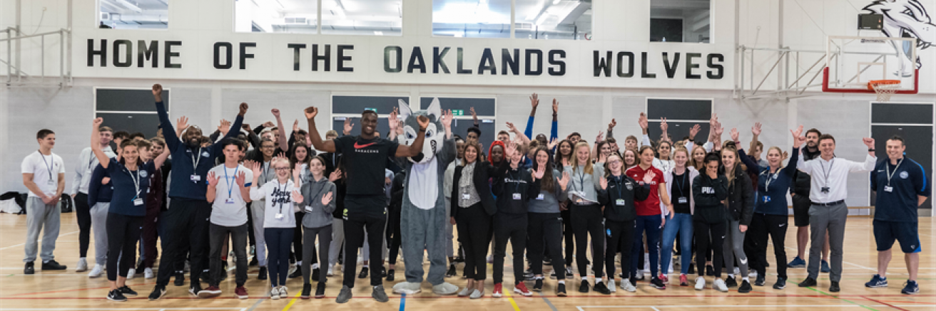 Oaklands College's newly laid Sports Hall was today re-opened by former Oaklands Wolves Rugby Academy star graduate Joel Kpoku.